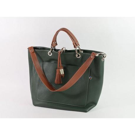 LOT!  Magnifique sac en cuir fabriqué en France dans le Berry et de manière artisanale!
